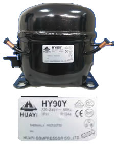 Motocompresor 1/4+ Hp R134a/H12/Blend HY90Ya Caja Marron