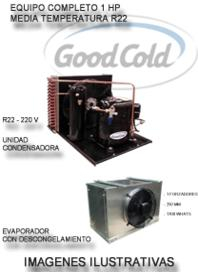 Equipo Camara Frig. 1 Hp Unid Cond Good Cold + Evaporador Good Cold Med Temp - 5°C / + 5°C