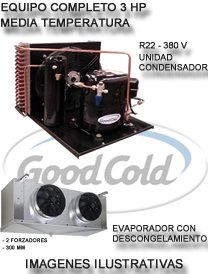 Equipo Camara Frig. 3 Hp Unid Cond Good Xingfa + Evap Good Co Media Temp - 5°C / + 5°C