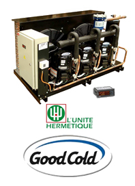 Minicentral de Frio 10 Hp R404A 380/3/50 Baja Temp Lunite Hermetique